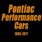 Pontiac Performance Cars 1965-1971
